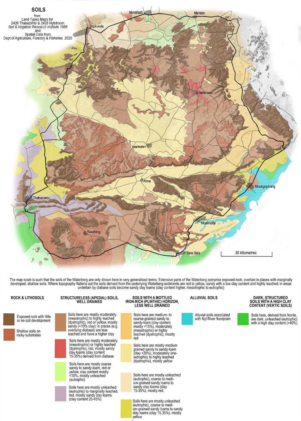 Soils of the Waterberg